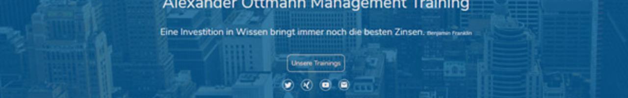 Alexander Ottmann Management Training