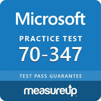 Thumbnail microsoft measureup 70 347 enabling office 365 ser
